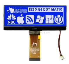 192x64 Dot Matrix Display Graphic LCD Module Interface w/Font Chip ERC19264SBS-1